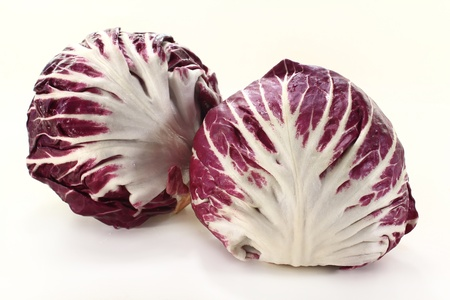 two radicchio on a white background Stock Photo - 12972668