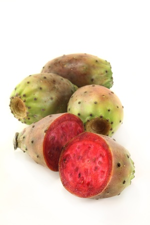 Prickly pears on a white background Standard-Bild