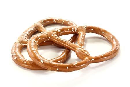 pretzels: two pretzels on a white background