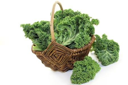 fresh green kale on a white background Stock Photo - 16504362