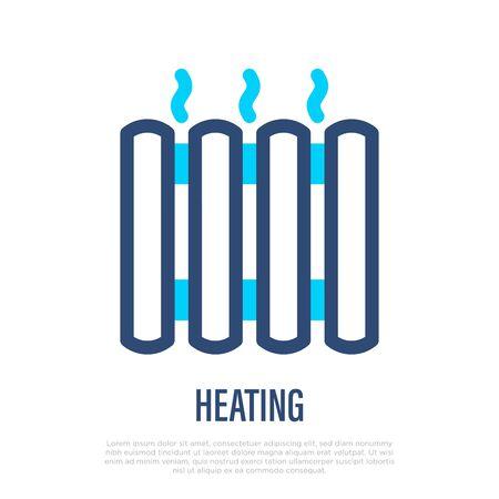 Heating thin line icon. Radiator. Vector illustration.