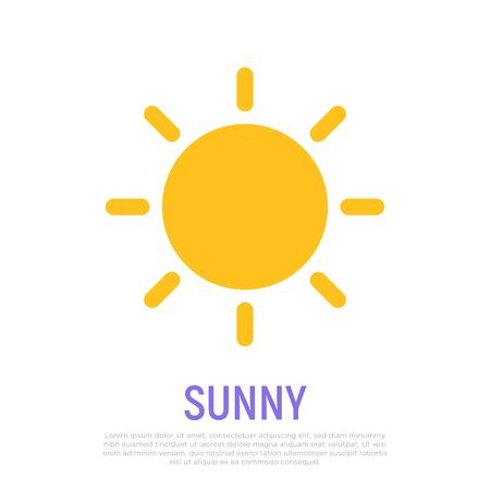 Sunny icon. Weather symbol in flat style. Modern vector illustration.