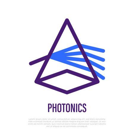 Photonics thin line icon. Light dispersion. Vector illustration. 向量圖像