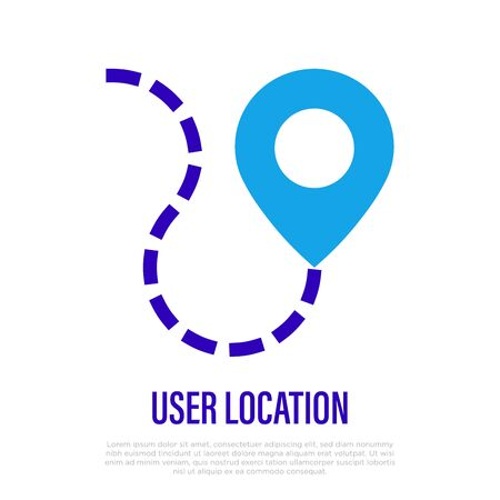Pointer thin line icon. User location. Vector illustration. Illustration