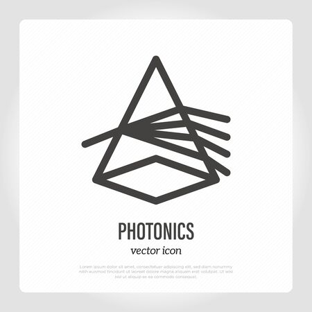 Photonics thin line icon. Light dispersion. Vector illustration. Illustration