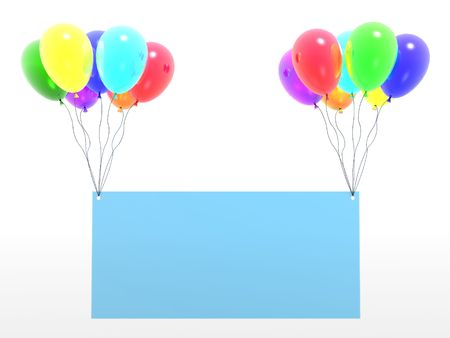 children celebration: rainbow baloons with empty blank (see more in my portfolio)