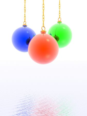 3D christmas balls (see more in my portfolio) photo