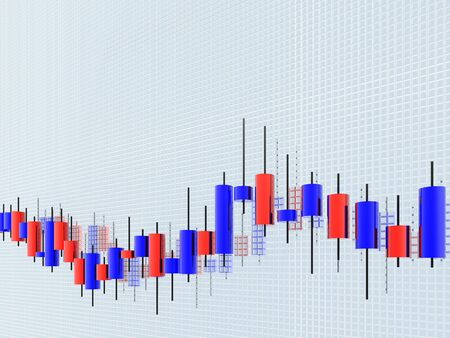 Japanese Candlestick chart Stock Photo