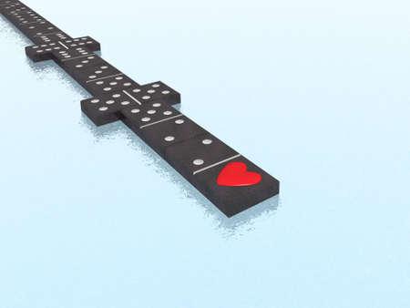 domino: domino with heart