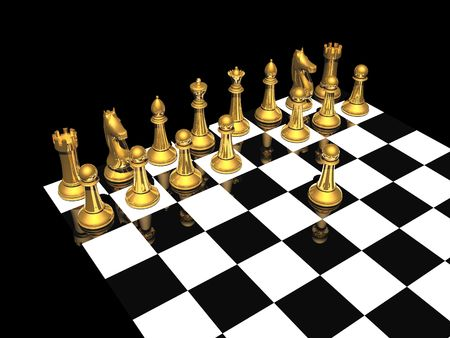 first step of chess competition photo