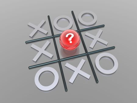 3D render noughts and crosses photo