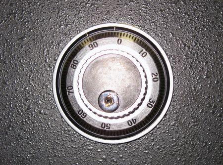 safeguard: safe lock (banking safeguard illustration) Stock Photo