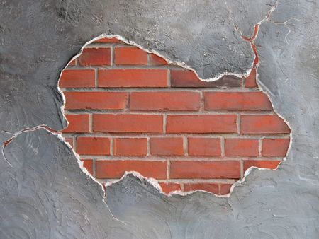 brickwall frame (decorative plaster surface) Stock Photo - 819039