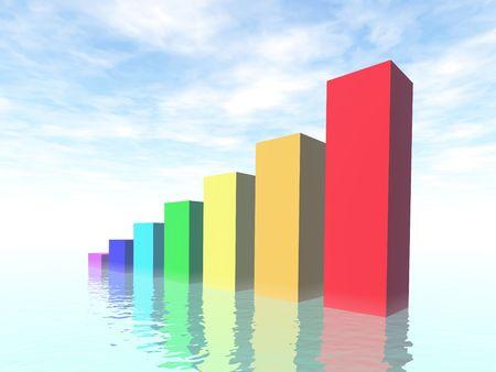 3d business diagram Stock Photo