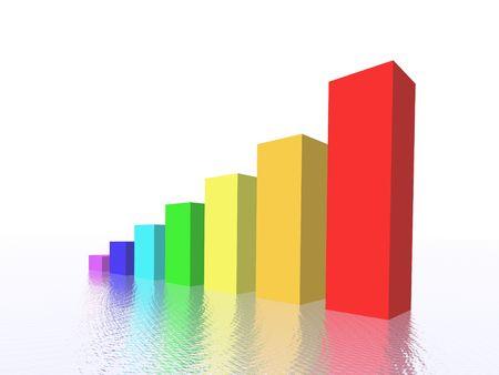 3d affaires diagramme  Banque d'images