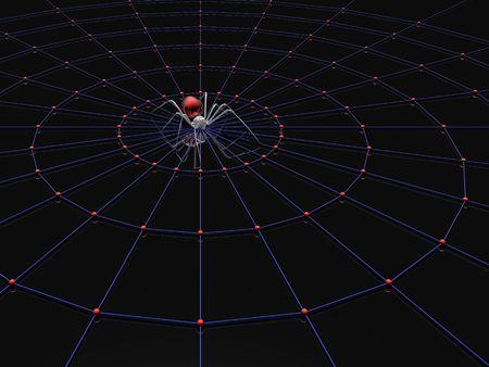 araign�e et web (haute r�solution 3D render) Banque d'images