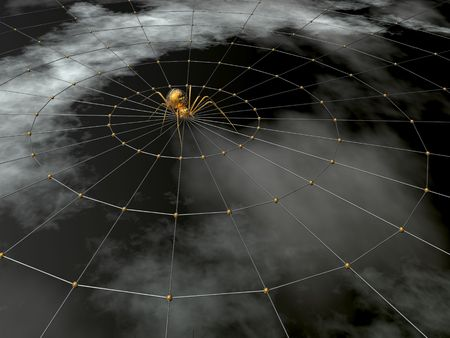 spider and web (high resolution 3D render) Stock Photo - 856288