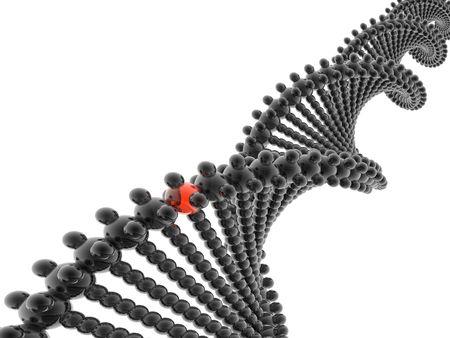 genes: ADN modelo 3D con diferentes genes
