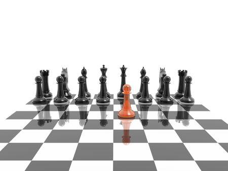 first step: erste Schritt der Schach-Wettbewerb