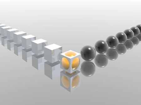 hight: cubes and spheres amalgamation (hight resolution 3D)