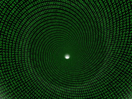 green coding vortex (hires 3d) Stock Photo - 930117