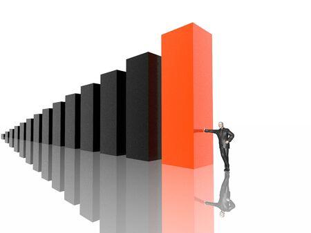 financials: business diagram (hires 3D image)