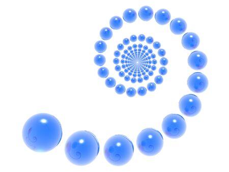 3D blue helix (hi res) Stock Photo - 930126