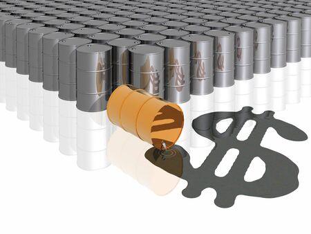 oil barrels and dollar symbol photo