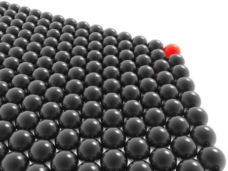 domination: red leader of black balls group (hires 3D image)