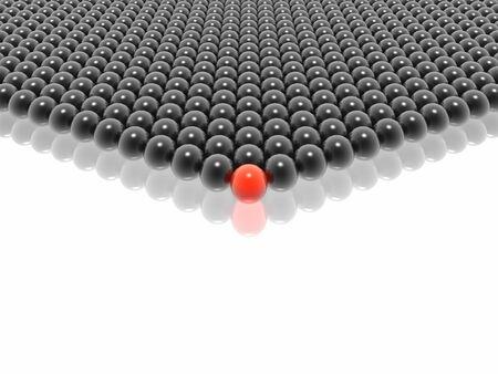 red leader of black balls group (hires 3D image)