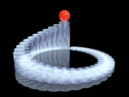Graphique 3D harmonie avec boule gagnant