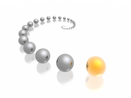spheres in curve (HiRes 3d images) Stock Photo - 1397953