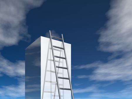 �chelle de r�ussite (image 3d) Banque d'images