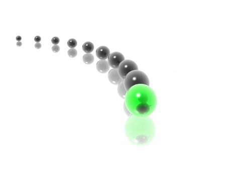 spheres in curve (HiRes 3d images) photo