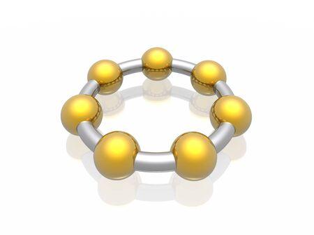 3D metal circle (union concept) photo