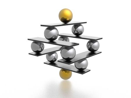 creative strength: balance (high resolution 3D image) Stock Photo