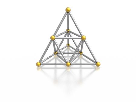 magnetic pyramid (high resolution 3D image)
