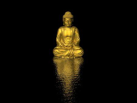 buddha (high resolution 3D image) Stock Photo - 2102866