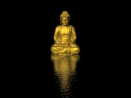 nirvana: buddha (high resolution 3D image)