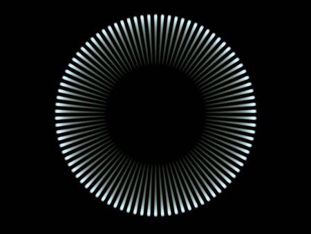 blue light circle (high resolution 3d image) photo