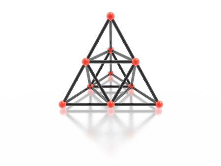 glass pyramid (high resolution 3D image) photo