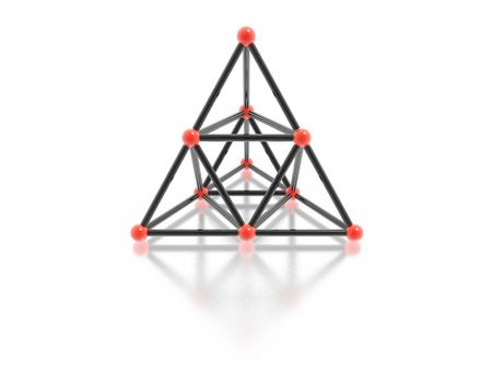 glass pyramid (high resolution 3D image) photo