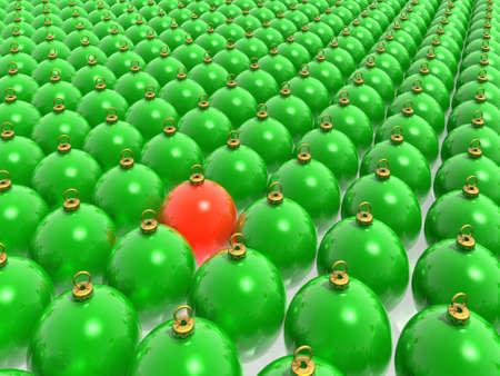 palle di Natale (alta risoluzione di immagini 3D)  Archivio Fotografico - 2146389