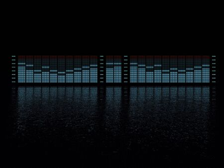 radio frequency: graphic equalizer display with reflection Stock Photo