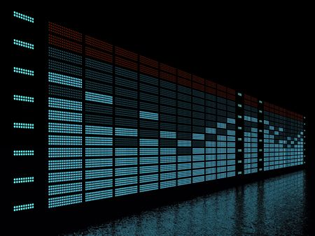 graphic equalizer display with reflection photo