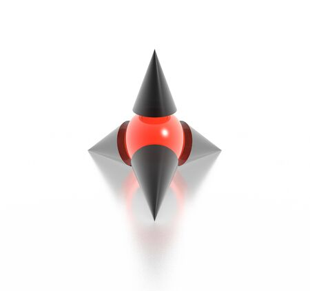 sphere standing: 3d symbol