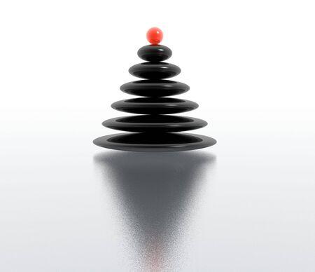 zen christmas tree photo