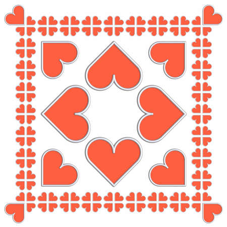 3D valentines tiles photo