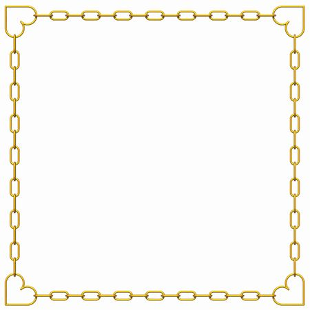 jewelry vector: 3D valentines frame with copy-space