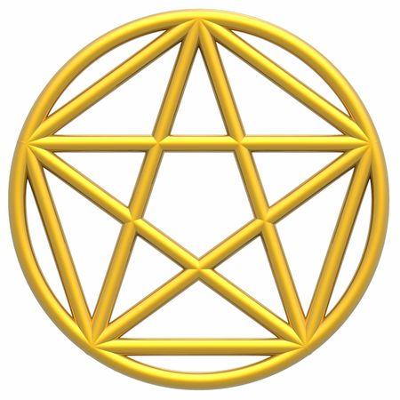 golden ratio: Pentagram & Golden Ratio (alta resoluci�n en 3D ilustraci�n)  Foto de archivo